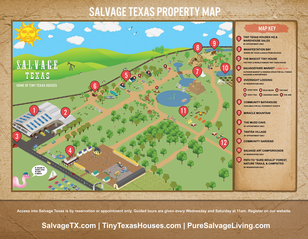 Salvage Texas in Luling Texas Property Map